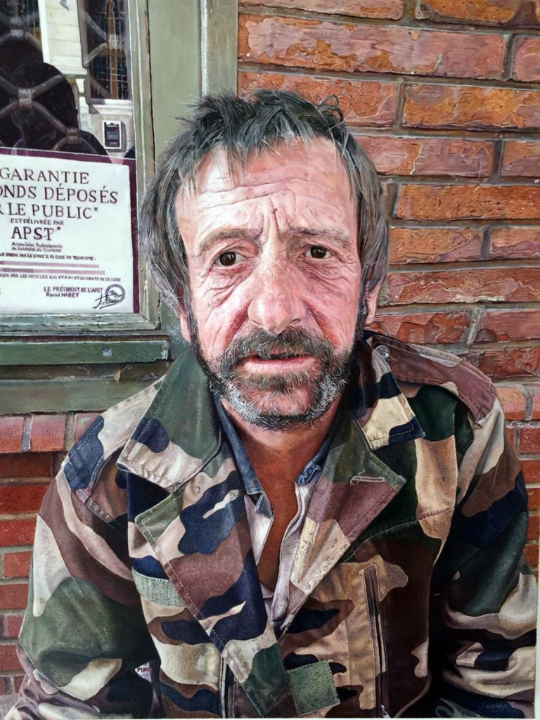 Homeless Man Toulouse by James Earley