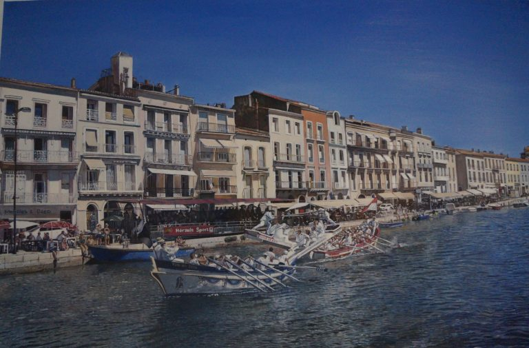 Water Jousting at Sete by James Earley