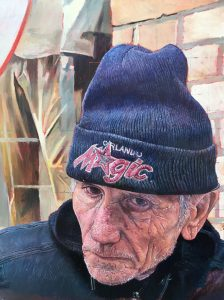 picture of homeless man by james earley