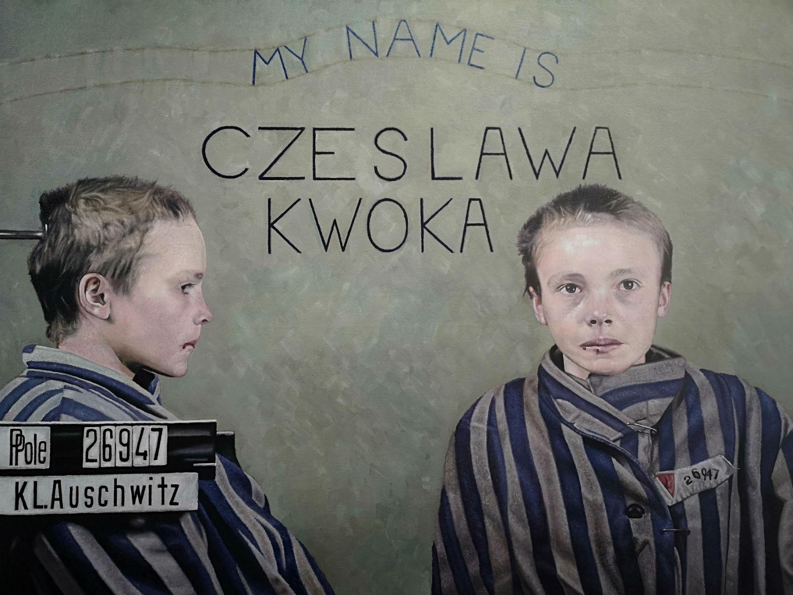 Czeslawa Kwoka original oil painting by James earley