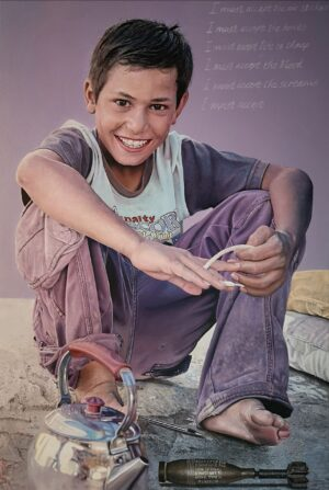 A Conversation Between A Syrian Boy And A Bomb by James Earley