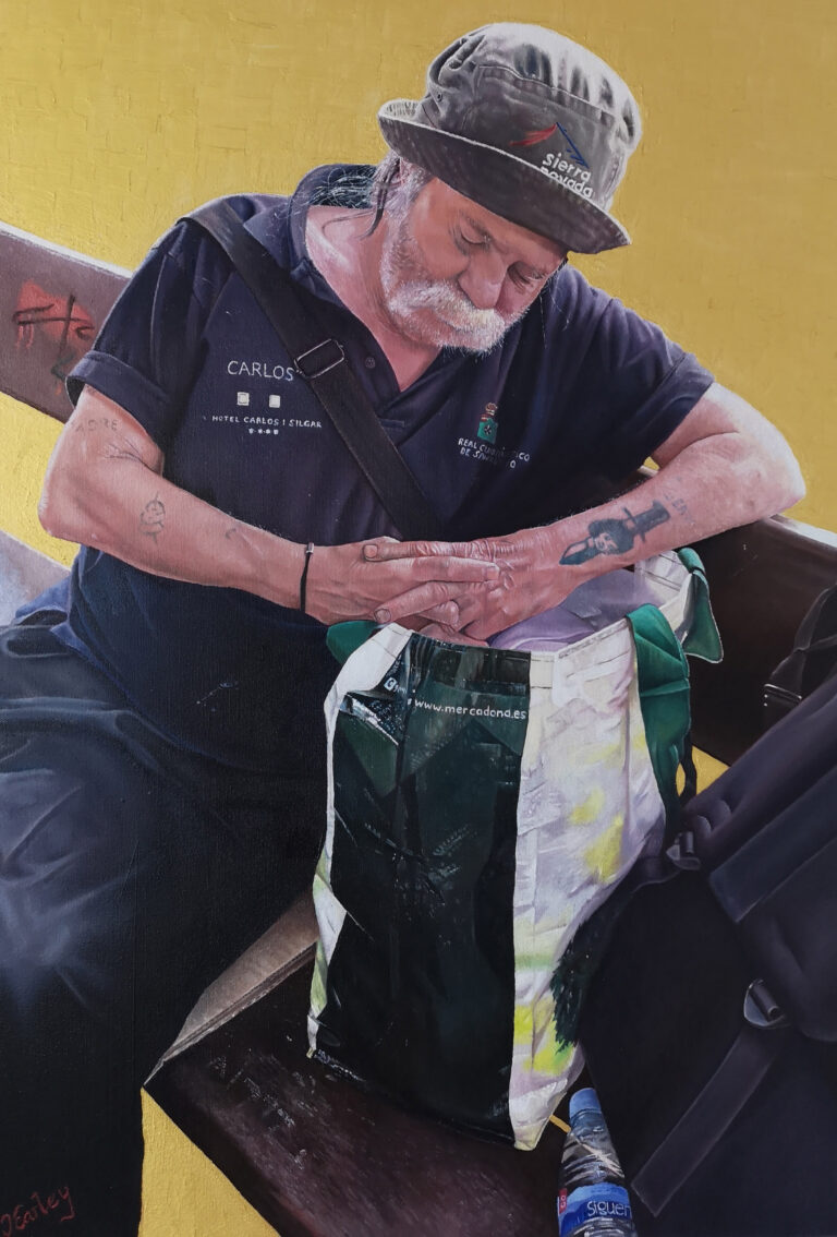 Antonio by James Earley, oil on canvas, 2020, 85cm x 55cm