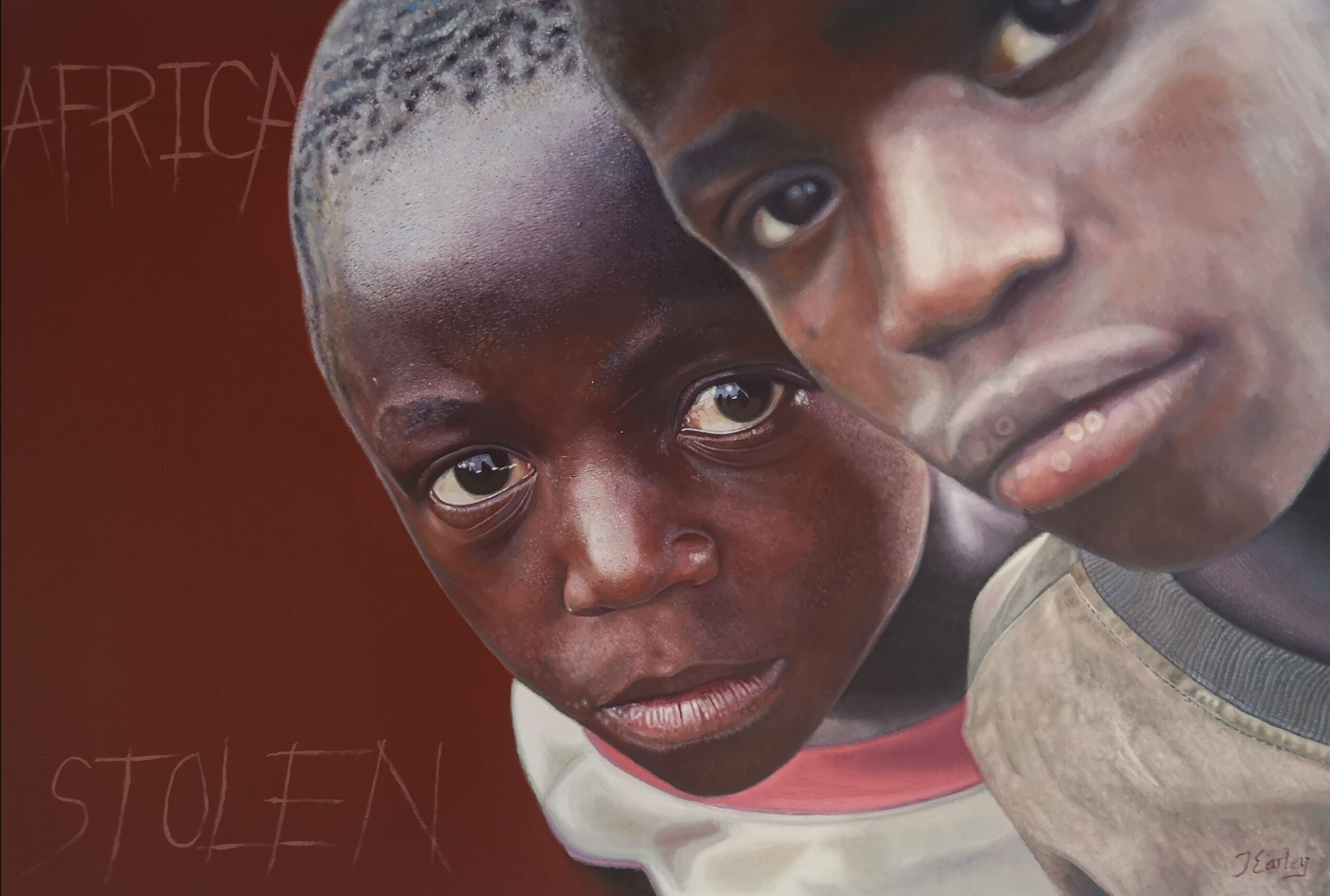 Africa by James earley, figurative and realist oil painting