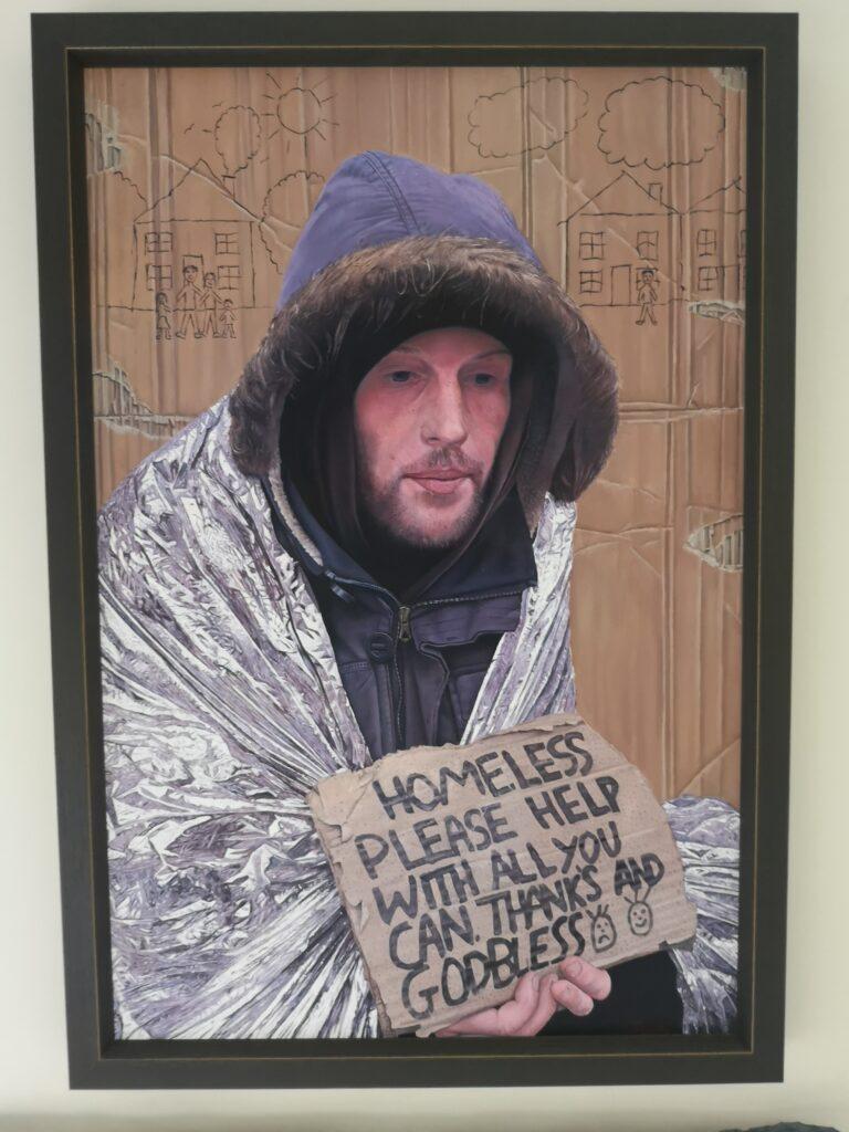 A Cardboard story by James earley. fine art, figurative art