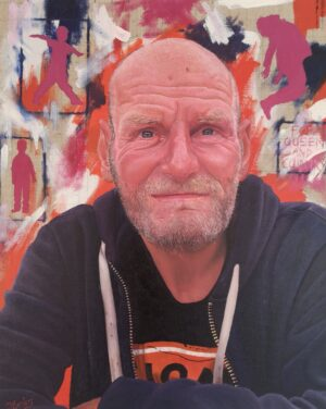 Pat by James earley oil on canvas